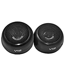 2 Pcs Pre-wired Dome Audio System Tweeter Speakers 120W for Auto Car