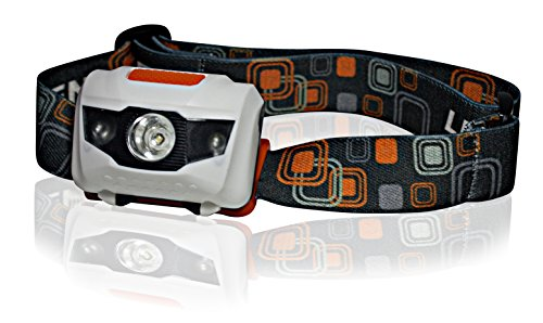 Brightest Led Headlamp Flashlight - Best White Bulb Spotlight & 2 Red Flashing Led Lights Assembly - Excellent For Kids, Running, Camping, Hunting, Fishing, Bike Lights, More! Waterproof With 3Xaaa Batteries Included! 100% Lifetime Guarantee!