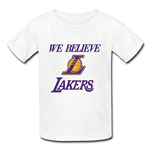 AOPO We Believe Lakers NBA L.A. Lakers Logo T-shirt For Kids Unisex