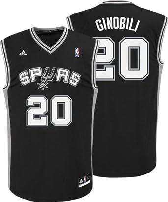 adidas San Antonio Spurs Manu Ginobili Youth (Sizes 8-20) Revolution 30 Replica Road... by adidas