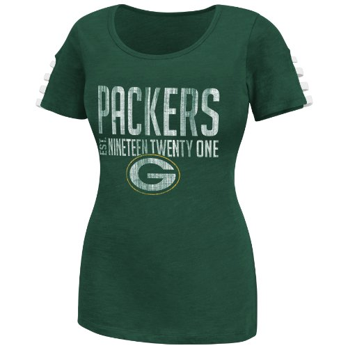 Green Bay Packers Shoulder Laces Women's Tee