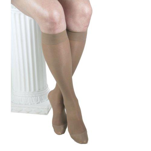 ITA-MED Sheer Knee Highs, Compression(20-22 mmHg), Beige, Medium, 3 Count