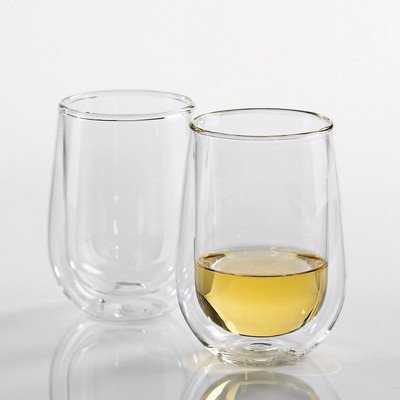 Wine Enthusiast Steady-Temp Double Wall Chardonnay Stemless Wine Glass, Set Of 2 front-397439