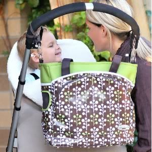 Laminated canvas 100% polyfill JJ Cole Mode Diaper Tote Bag changing pad included - Cocoa Tree Nourrisson, Bébé, Enfant, Petit, Tout-Petits