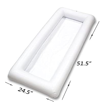2 PCS Inflatable Serving/Salad Bar Tray Food Drink Holder BBQ Picnic Pool Party Buffet Cooler,with a drain plug