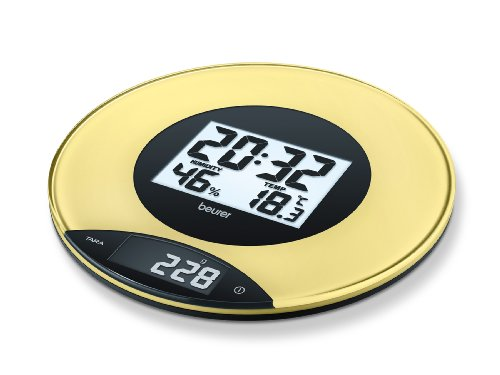Beurer - KS 49 Yellow - Kitchen Scales with Screen - XXL - Yellow - Wall Hanging