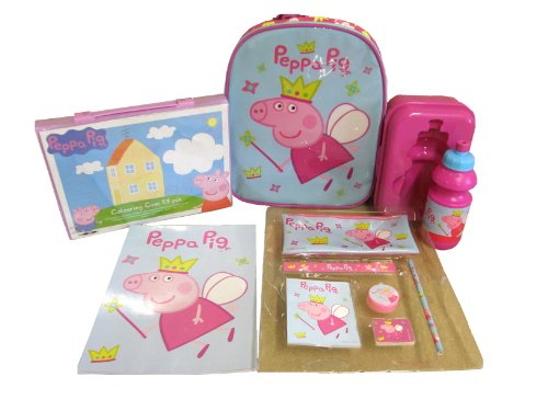 Peppa Pig Backpack and Stationary with Art Set and Lunch Box with Bottle [Toy]