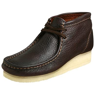 Clarks Originals Men's Wallabee Boot, Brown Oily Leather, 6.5 M