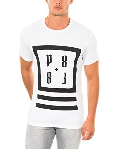 883 Police T-Shirt Manica Corta Olympic Logo  [Bianco]
