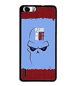 PrintDhaba Quote D-2621 Back Case Cover for HUAWEI HONOR 6 (Multi-Coloured)