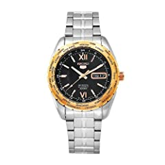 Seiko Men's SNZG62 Sports Stainless-Steel Automatic World Time Watch