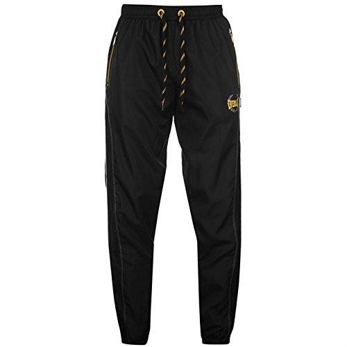 everlast-mens-woven-track-pants-jogging-bottoms-joggers-sweatpants-activewear-black-yellow-m
