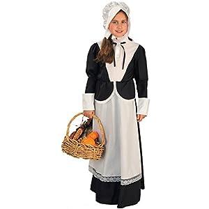 Pilgrim Girl Child Costume - Small