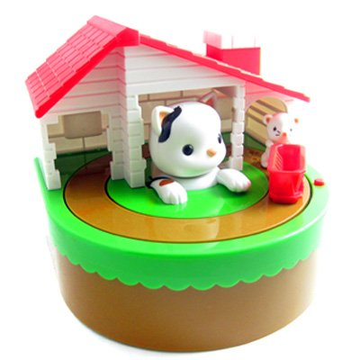 Sutakora Cute Cat Mouse Coin Money Bank Kid Children Toy - 1