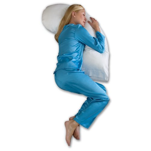 Snoozer Dream Weaver Upper Body Pillow, Premium Cluster Fiber