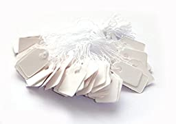 TEXTIMO Hanging Labels/Price Labels (White/1000 Pcs )