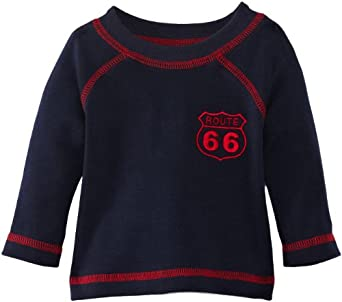 Sense Organics Baby Baby Boys Tavish Plain Shirt, Blue (Winter Navy), 0-3 Months