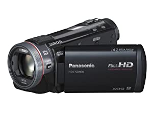 Panasonic SD900 Full HD 1920x1080p (50p) 3D Ready Camcorder - Black (3MOS sensor, SD Card Recording, Leica Dicomar Lens and Manual Control Ring)