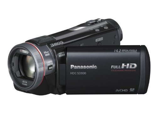 Panasonic SD900 Full HD 1920x1080p (50p) 3D Ready Camcorder - Black (3MOS sensor, SD Card Recording, Leica Dicomar Lens and Manual Control Ring)