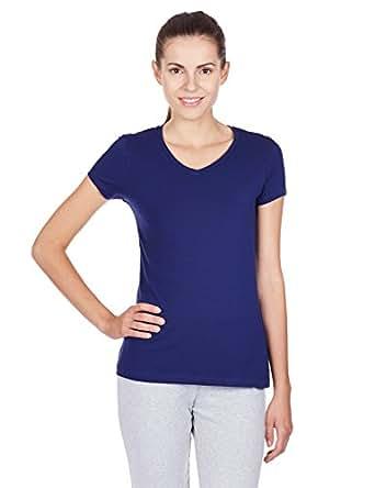 Jockey women cotton v neck t shirt clothing for Jockey v neck shirt