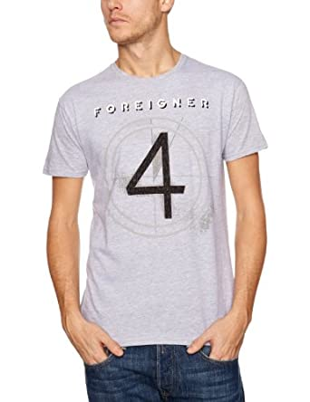 Foreigner 4 Tsf Men's T-Shirt Grey Large