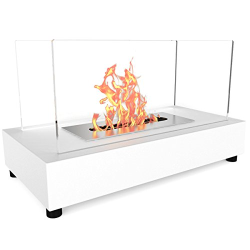 Elite Lover Avon Ventless Table Top Bio Ethanol Fireplace White