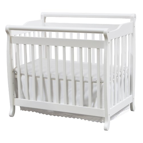DaVinci Emily 2-in-1 Mini Crib and Twin Bed in White | Greenguard Gold Certified