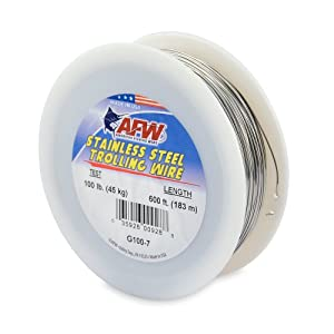American Fishing Wire Stainless Steel Trolling Wire (Single Strand) by American Fishing Wire