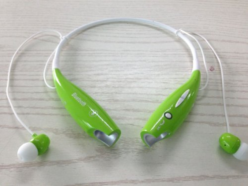 Soundbeats Universal Hv-800 Wireless Music A2Dp Stereo Bluetooth Headset Universal Vibration Neckband Style Headset Earphone Headphone For Cellphones Enabled Bluetooth (Green, Hbs-800)