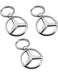 Indiashopers Mercedes Full Metal KeyRing KeyChain (Pack Of 3)