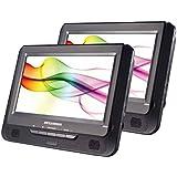 Sylvania SDVD9805/SDVD9805-C  9-Inch Twin Dual Screen DVD Player