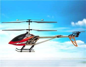 SongYang 8088-37 3 Channels RC Helicopter with Gyroscope (Red)