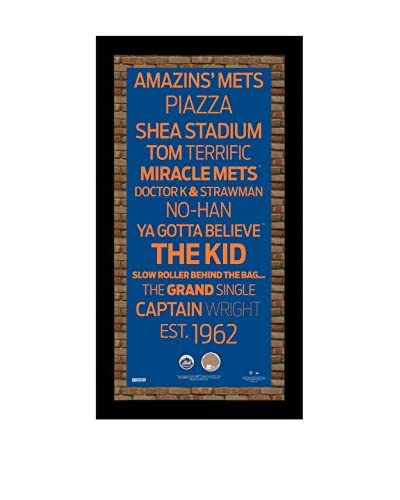 "Steiner Sports Memorabilia New York Mets Subway Sign With Dirt From Citi Field, 20"" x 10"""