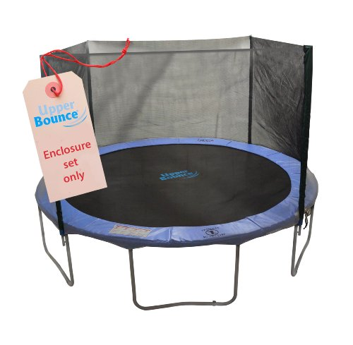 Upper-Bounce-4-Pole-Trampoline-Enclosure-Set-to-fit-12-Feet-Trampoline-Frames-with-set-of-2-or-4-W-Shaped-Legs-Trampoline-Not-Included