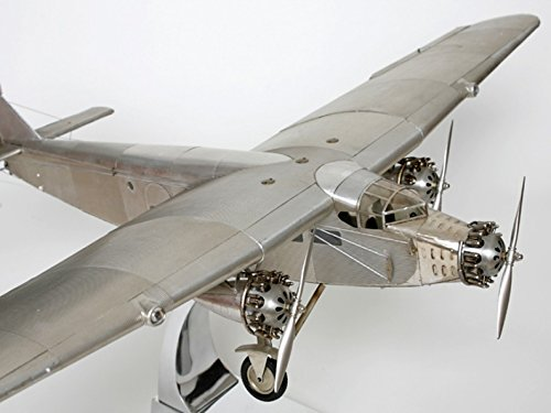 Brillibrum Flyer Model Airplane, Ford Trimotor Solid Metal with Propeller