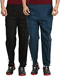 Gumber Pack of 2 Black & Blue Solid Pyjamas (GE_CTN_PJA_BLK_BLU_2PC)