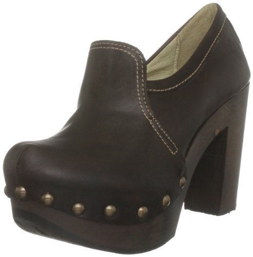 Fly London Women's Sarah Dark Brown Platforms Heels P142012002 6 UK