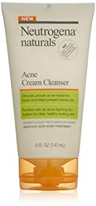 Neutrogena Naturals Acne Cream Cleanser, 5 Ounce