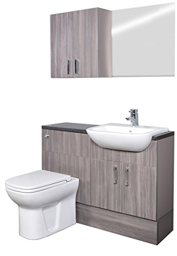 Best quality grey brown grained fitted bathroom furniture for Bathroom furniture quality