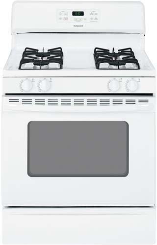 "Hotpoint Rgb530Dehww 30"" White Gas Sealed Burner Range front-441059"