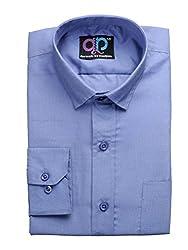 Koolpals Mens Cotton Formal Shirt (Kpms_Fp04_38Ob _Blue _38)
