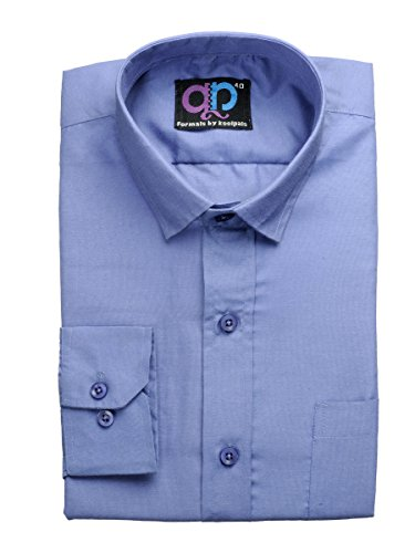 Formals-by-Koolpals-Cotton-Blend-Plain-Shirt-Office-Blue-Solid