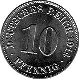 10 Pfennig Imperio Alemán, 1914 A (Jäger: 13) Flor de Cuño
