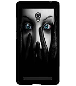 ColourCraft Mystery Girl Design Back Case Cover for ASUS ZENFONE 6 A600CG