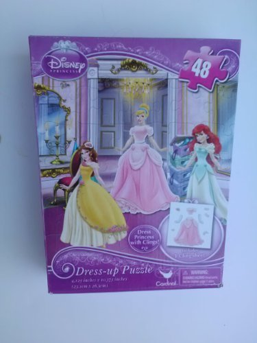 Disney Princess 48 Piece Dress-up Puzzle - 1