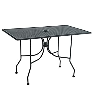 Metal Outdoor Dining Table 30 X 48 Black Paint Pat