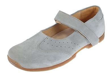 Footprints by Birkenstock Pittsburg Womens Leather Mary Jane Shoes (36 EU/US Women 5-Regular, Suede Power Blue)