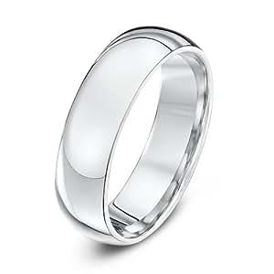 Theia Palladium 950 Super Heavy - Court shape 6mm Wedding Ring - Size W