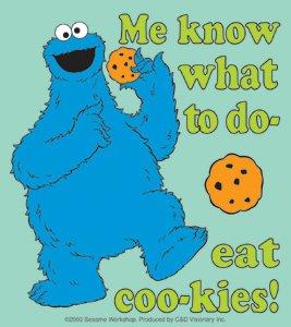 Amazon.com: Sesame Street Children's TV Show Sticker - Cookie Monster