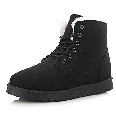 PG Women Winter Boots Botas Mujer Fur Snow Boots Ankle Boots Flat